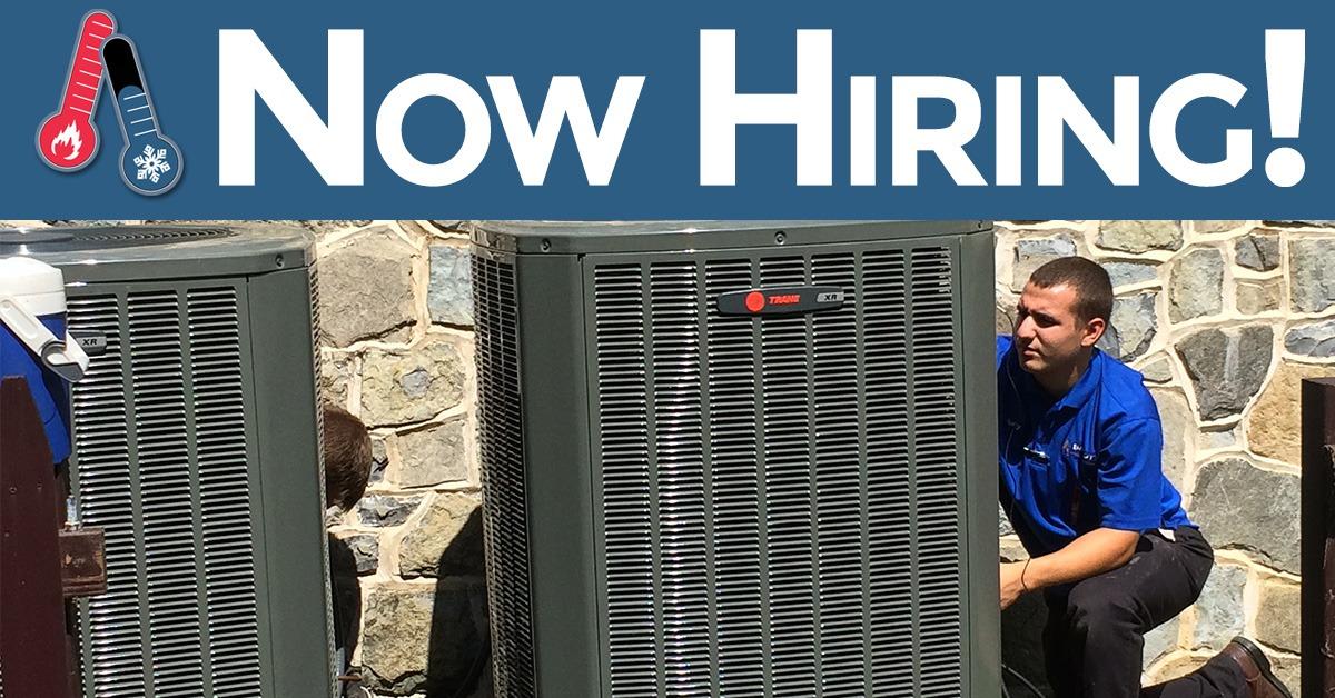 now hiring hvac tech near berks county